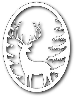 Memory Box Grand Stag Oval Frame Craft Die