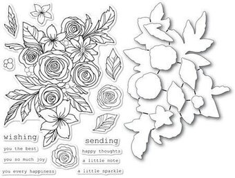 Rose Bouquet - Clear Stamp and Die Set