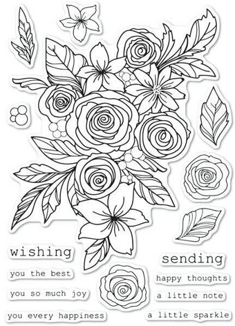 Rose Bouquet - Clear Stamp