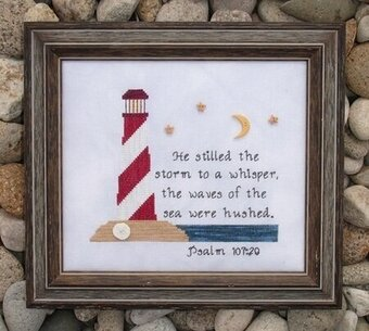 Lighthouse Psalm - Cross Stitch Pattern