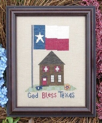 My Big Toe Designs God Bless Texas Cross Stitch Pattern