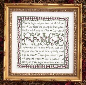 Building Blocks - Peace - Cross Stitch Pattern