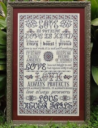1 Corinthians - Cross Stitch Pattern