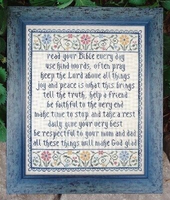 Words of Wisdom - Cross Stitch Pattern
