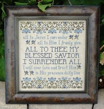 I Surrender All - Cross Stitch Pattern