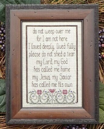 Do Not Weep - Cross Stitch Pattern