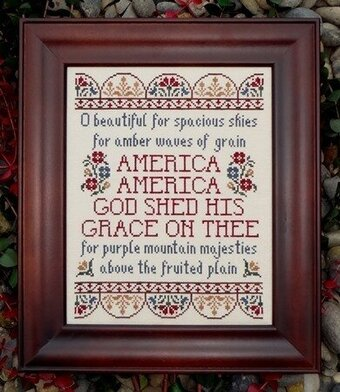 America the Beautiful - Cross Stitch Pattern