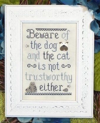 Beware of Dog (and Cat)! - Cross Stitch Pattern