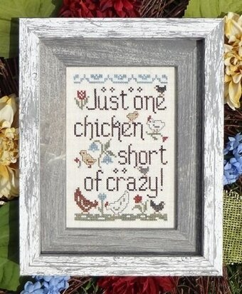 Chicken Crazy - Cross Stitch Pattern