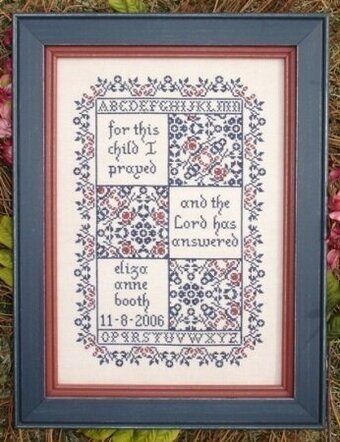 For This Child - A Birth Sampler - Cross Stitch Pattern