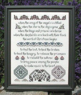 Work of Christmas, The - Cross Stitch Pattern