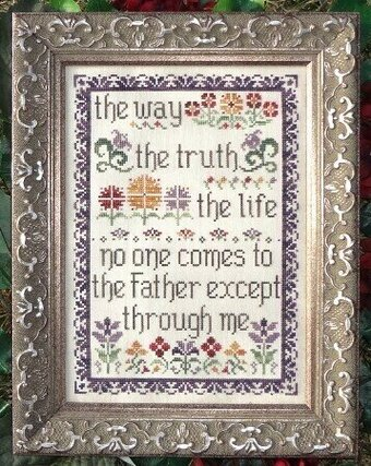 The Way, Truth, Life - Cross Stitch Pattern