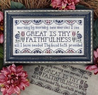 Great is Thy Faithfulness - Cross Stitch Pattern