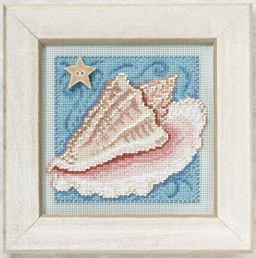 Conch Shell - Beaded Cross Stitch Kit