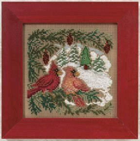 Cardinal Forest - Beaded Cross Stitch Kit