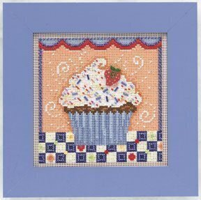 Chocolate Cupcake - Beaded Cross Stitch Kit