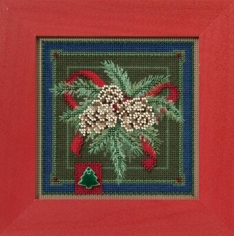 Festive Pine - Beaded Cross Stitch Kit