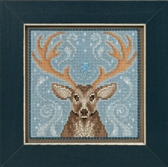 Winter Stag - Beaded Cross Stitch Kit