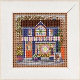 Fabric Shoppe - Main Street - Beaded Cross Stitch Kit