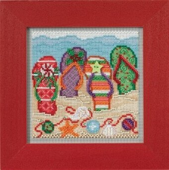 Holiday Flip Flops - Cross Stitch Kit