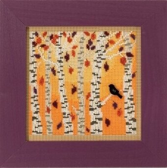 Autumn Woods - Beaded Cross Stitch Kit