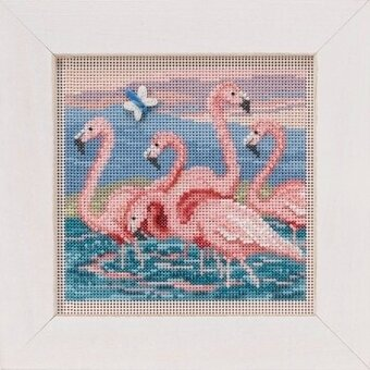 Flamingos - Beaded Cross Stitch Kit
