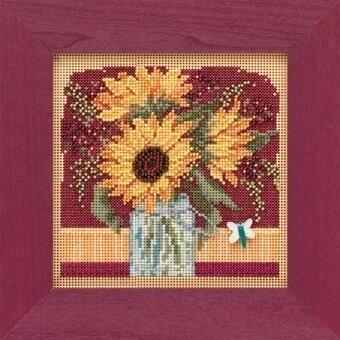 Sunflower Bouquet - Beaded Cross Stitch Kit