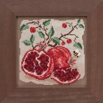 Pomegranates - Beaded Cross Stitch Kit