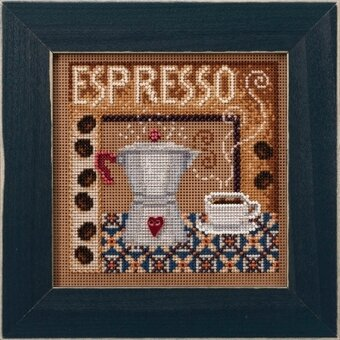 Espresso - Beaded Cross Stitch Kit