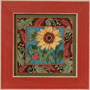 Sunflower - Beaded Cross Stitch Kit