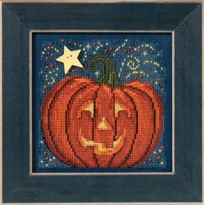 Midnight Pumpkin - Beaded Cross Stitch Kit