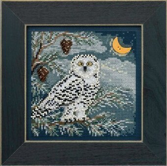 Snowy Owl - Beaded Cross Stitch Kit