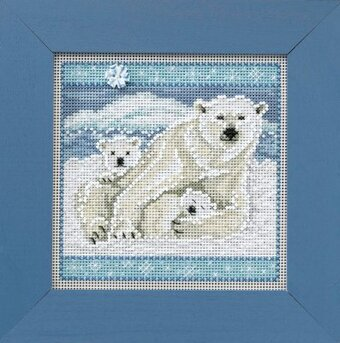Polar Bears - Beaded Cross Stitch Kit