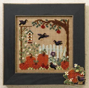 Pumpkin Patch - Beaded Cross Stitch Kit