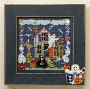 Boo House - Beaded Cross Stitch Kit