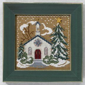 Country Church - Beaded Cross Stitch Kit