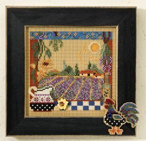 Lavender Fields - Beaded Cross Stitch Kit