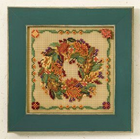 Autumn Wreath - Beaded Cross Stitch Kit