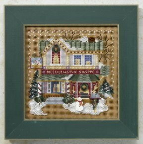 Needlework Shop Christmas Village - Beaded Cross Stitch Kit