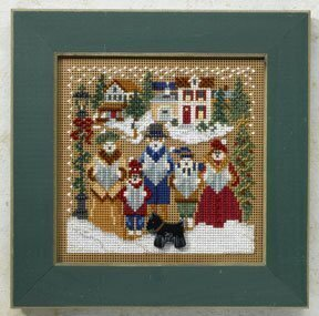 Caroling - Christmas Village - Beaded Cross Stitch Kit