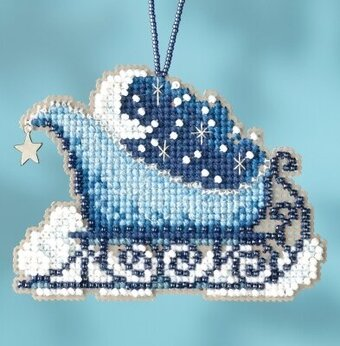 Celestial Sleigh - Beaded Cross Stitch Kit