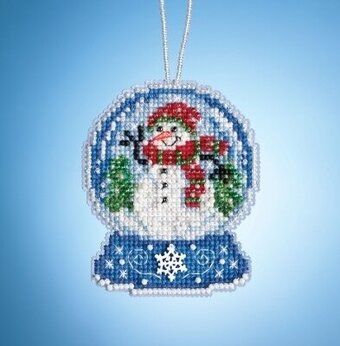 Snowman Globe - Beaded Cross Stitch Kit