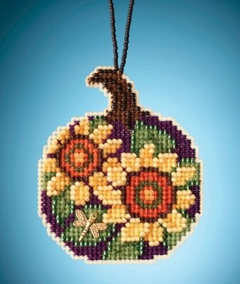 Sunflower Pumpkin - Beaded Cross Stitch Kit