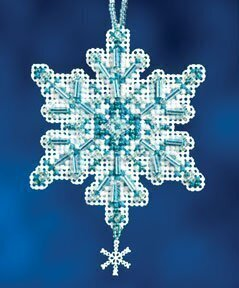 Aqua Crystal - Beaded Cross Stitch Kit