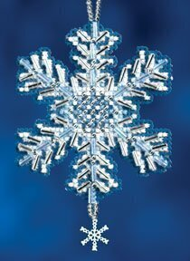 Ice Crystal - Beaded Cross Stitch Kit