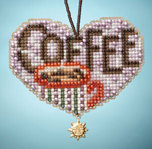 Love Coffee - Beaded Cross Stitch Kit