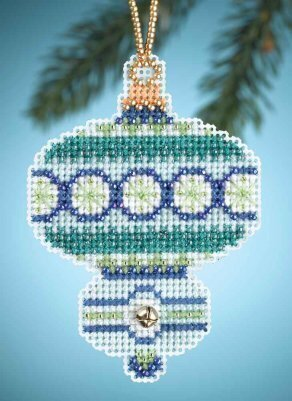 Blue Topaz - Beaded Cross Stitch Kit