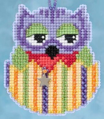 Violet (Owlets) - Beaded Cross Stitch Kit