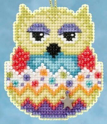 Kiwi (Owlets) - Beaded Cross Stitch Kit