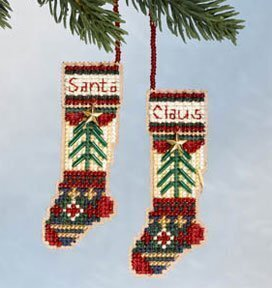Santa's Stockings - Beaded Cross Stitch Kit